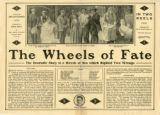 Press sheet for THE WHEELS OF FATE, 1913