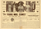 Press sheet for THE YOUNG MRS. EAMES, 1913
