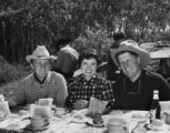 George Stevens, Jr., Yvonne Stevens, and George Stevens, ca. late 1940s