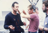 Bryan Brown and others during production of F/X, 1986